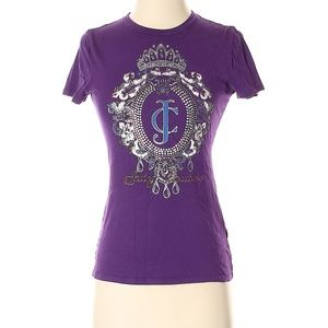 Juicy Couture Women's Top Purple T Shirt  Sz XS